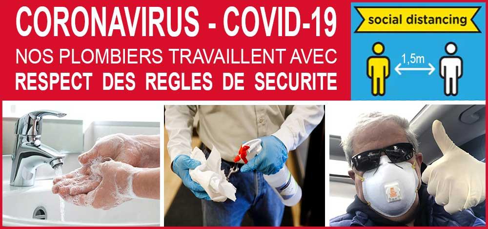 coronavirus regle securite - plombier urgent Woluwe Saint Pierre service express